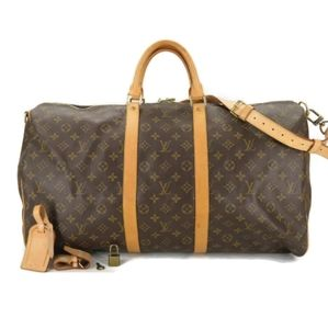 💯 AUTH LOUIS VUITTON  KEEPALL BANDOULIERE 55